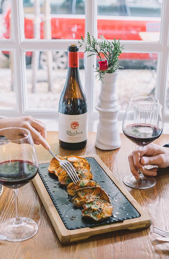 Restaurantes PSWorks Vino y Comida con Setas Gourmet